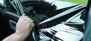 Чем отмыть клей от тонировки со стекла машины