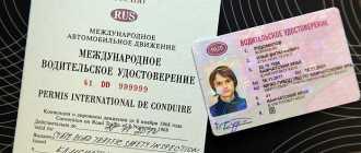Чем отличается национальное водительское удостоверение от международного образца